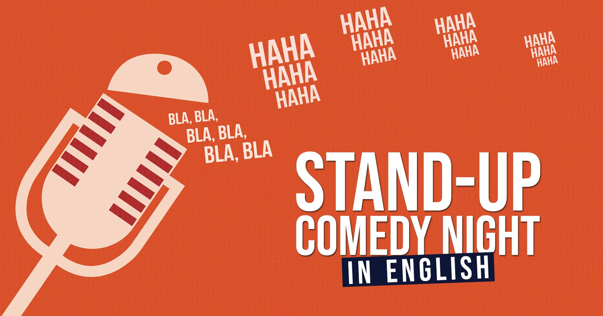 Stand-up comedy night in English
